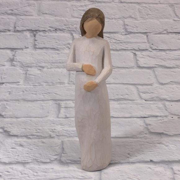 Willow Tree CHERISH Figurine.Pregnant woman '02***